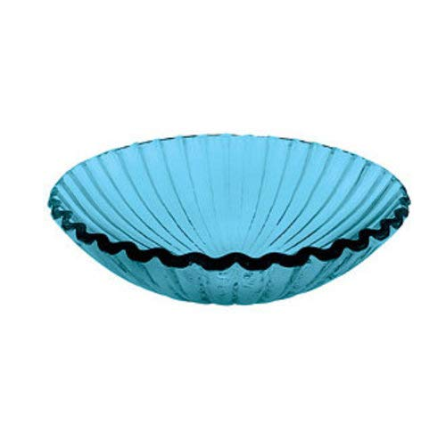 DECOLAV 1035-BL Round Clamshell Natural Glass Vessel Sink, 17-Inch, ()