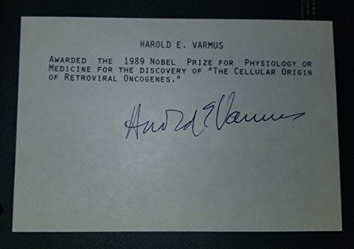 """""""Nobel Prize Winner"""" Harold E. Varmus Hand Signed Card JG Autographs W/COA from Unknown"""