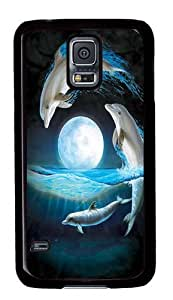 Over The Moon Dolphin PC Case Cover for Samsung S5 and Samsung Galaxy S5 Black