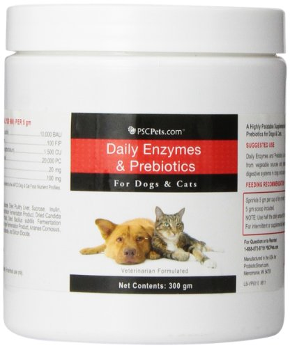 Daily Enzymes and Prebiotics Powder for Dogs and Cats, 300gm