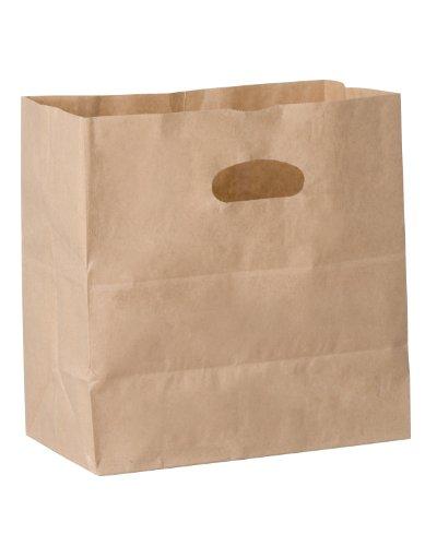 40 Die Cut (Duro ID# 84245 Die Cut Handle Bag 40# Natural Kraft 500pk 11 x 6 x 11)