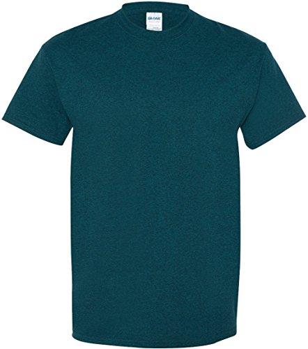 Uomo Blu Gildan Maglietta Heavy Notte Manica Cotton Corta qvXq6g