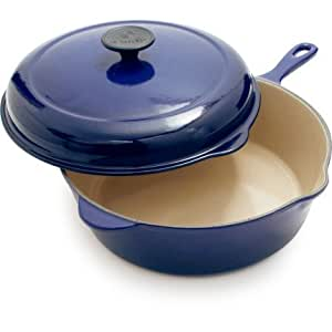 Le Creuset Indigo Deep Covered Saute Pan L2556-27S78 , 3.75 qt.