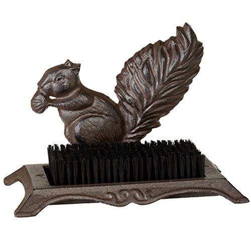 MIDWEST-CBK Rugged Brown Squirrel 11 x 7 Cast Iron Boot Scraper