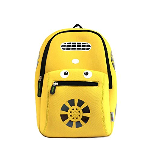 Kids Car Backpack 3D Cute Zoo Cartoon School Boys Girls Bags