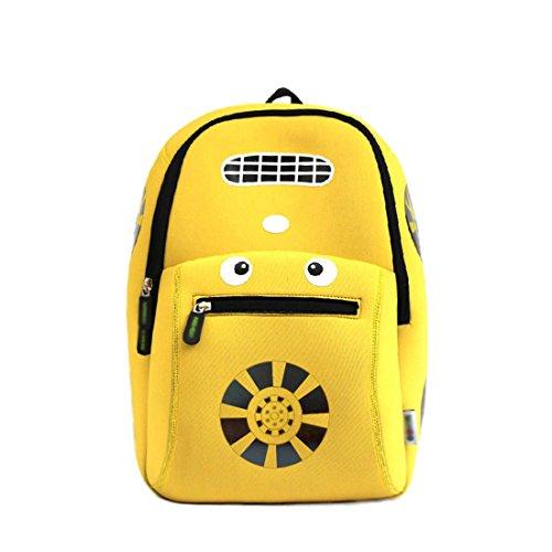 Kids Car Backpack 3D Cute Zoo Cartoon School Boys Girls Bags