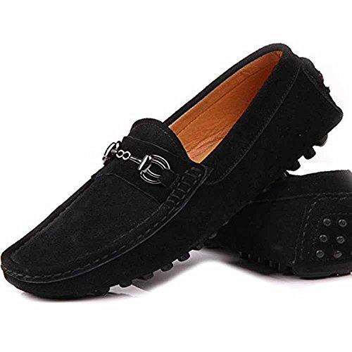 Fulinken Botas mocasines hombre, color Negro, talla 41 EU: Amazon.es: Zapatos y complementos