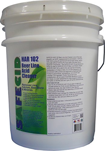 Beer Line Acid Cleaner 5 Gallon Pail by PACKFORCE INDUSTRIAL