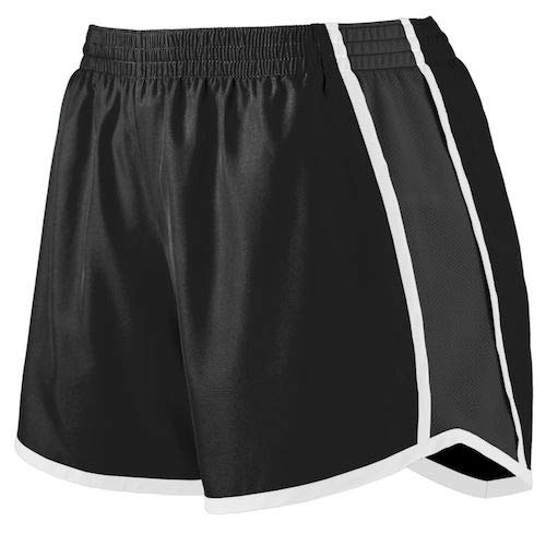 Augusta Sportswear Women's Junior fit Pulse Team Short, Black/White, Medium