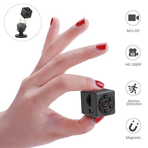 YOMYM Mini cámara espía oculto espía, 1080P HD cámara de seguridad portátil de video y foto con cámara de visión...