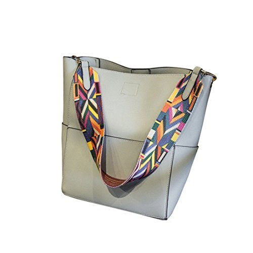 2018 new luxury handbags handbags designer brand list shoulder bag female retro handbag Pu leather gray Messenger bag (gray)