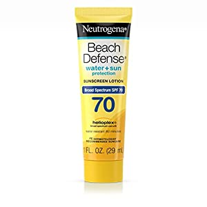 Neutrogena Beach Defense Sunscreen Lotion Broad Spectrum SPF 70, 1 Fl. Oz