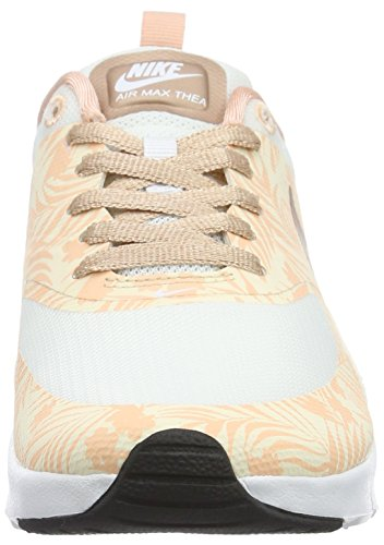 Nike Unisex-Kinder Air Max Thea Print (GS) Low-Top Weiß (White/Mtlc Red Bronze-Pearl White)