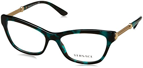 Versace Glasses Frames 3214 5076 Green Havana Womens - Versace Optical Frames
