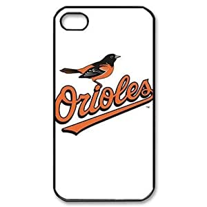 MLB iPhone 4,4S White Baltimore Orioles cell phone cases&Gift Holiday&Christmas Gifts NADL7B8824720