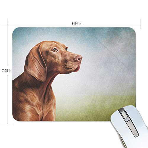 My Daily Vizsla Pointer Dog Mouse Pad 9.84 x 7.48 x 0.2 inch, Non-Slip Rubber Base Pad for Gaming & Office