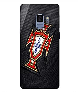 ColorKing Football Portugal 06 Black shell case cover for samsung S9