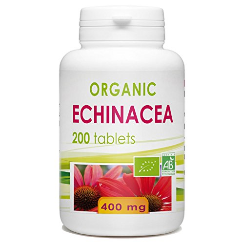 Organic Echinacea 400 mg per tablet - 200 tablets
