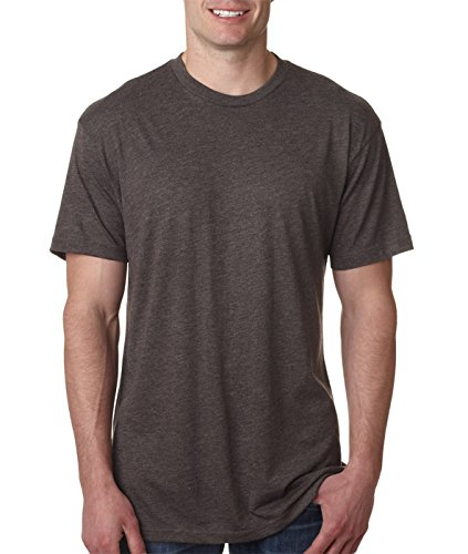 (Next Level 6010 Tri-Blend Tee - Heather White + Macchiato (2 Pack), Medium)