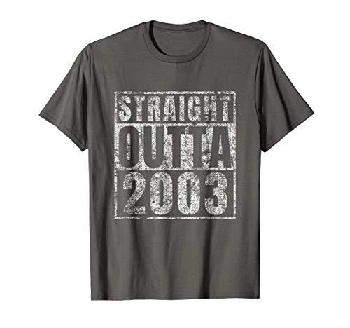 (Straight Outta 2003 Sweet 16 Birthday Gift Idea Tshirt)
