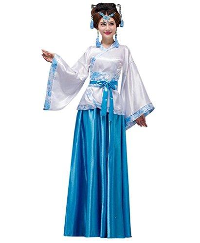 springcos Chinese Costumes Women Fancy Dress Hanfu Blue ()