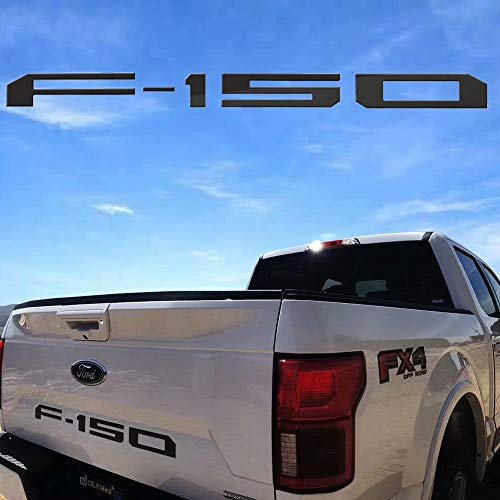 (Sparkle-um Ford F-150 Tailgate Plastic Letters Inserts Emblem,Decal Badge Nameplate Fits for 2004-2019 Ford F150.(Black))