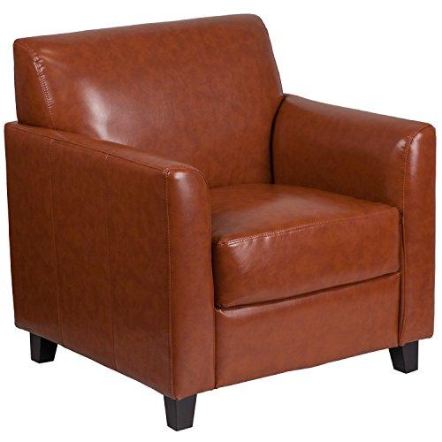 (Flash Furniture HERCULES Diplomat Series Cognac Leather Chair)