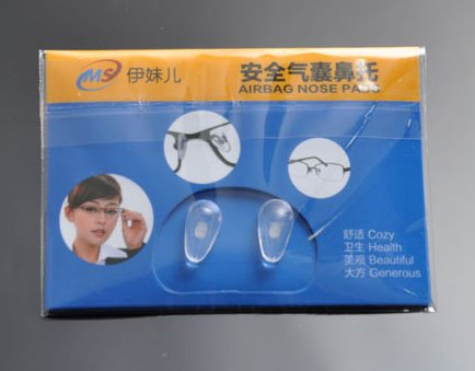 Deding Anti-slip Airbag Nose Pads Glasses with Back Card 2 Pairs
