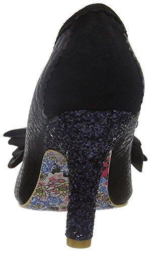Irregular Choice Ascot Noir Glitter Femmes Talons Court Chaussures