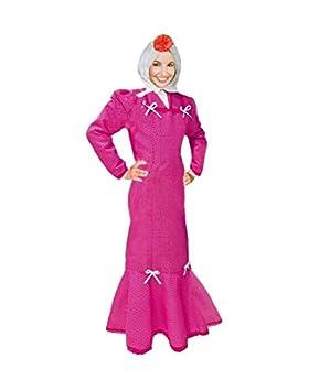 Disfraz Chulapa Mujer Fucsia Lunar Blanco (L): Amazon.es ...