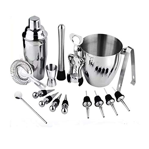 Boweiwj Cocktail Shaker Set,16 Piece Bartender Kit Wine and Cocktail Mixing for Home and Bar Set
