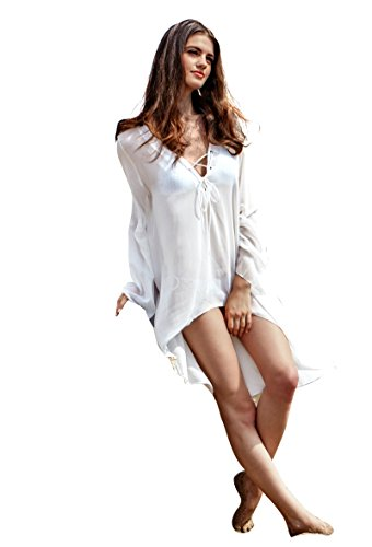 Collection Chiffon V Neck Swimsuit Cover product image