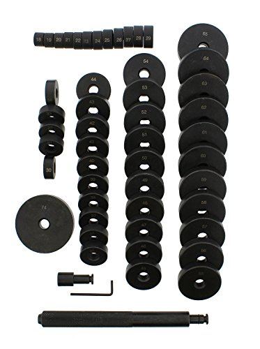 ABN Bush, Bearing, Seal Driver 50-Piece Set with Carrying Case – 18-65mm & 74mm Metric Discs, Shaft, Allen Key, Screw by ABN (Image #1)