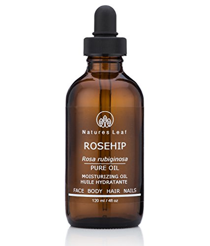 Rosehip Seed Oil Organic / 100% Pure Cold Pressed/Unrefined / Omegas 3, 6 & 9 / Vitamins A C & F/Anti-Aging/Stretch Marks/Wrinkles & Fine Lines 4 fl. oz.