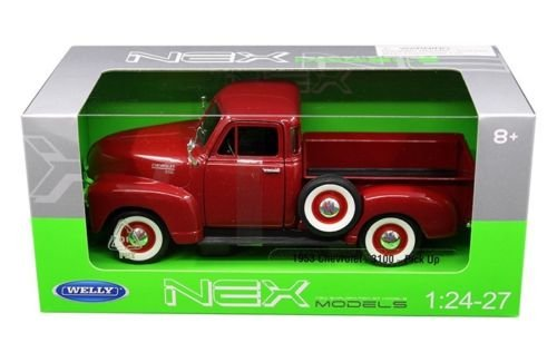 Welly 22087R 1953 Chevrolet 3100 Pick Up Truck Red 1/24 - 1/27 Diecast Model Car