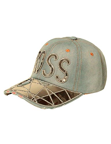Fifth Parallel Threads Studded Baseball Cap Hat SBOSS LIGHTBLUE OS - Baseball Sleeveless Hat