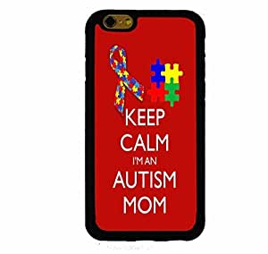 Keep Calm I'm An Autism Mom Ribbon And Puzzle iphone 5c ( Inch Screen) Rubber Case