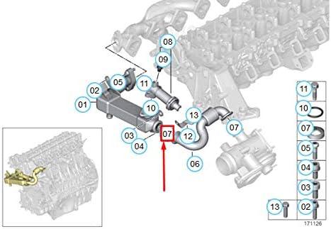 Gtv Investment E46 E39 E60 Agr Ventil Emissionsschlauch Rohrschelle Clip 11717786146 Neu Original Auto