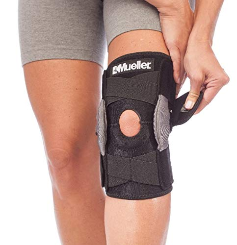 Mueller Sports Medicine - Mueller Sports Medicine Adjustable Hinged Knee Brace, Black/Gray, One Size Fits Most