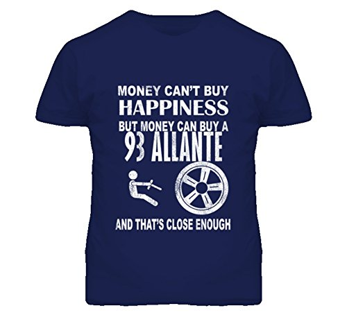 Money Cant Buy Happiness 1993 Cadillac Allante Dark Distressed T Shirt L Navy