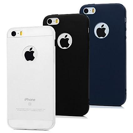3x Funda para iPhone 5 / iPhone 5S, Carcasa de TPU Silicona ...