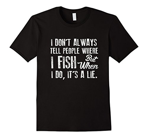 Mens Fathers Day Gifts for Dad Funny Fishing T Shirt Fish Shirts 2XL Black