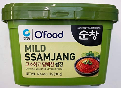 (Chung Jung One Sunchang Seasoned Soybean Paste (Ssamjang) 17.6 oz (1.1lb, 500g))