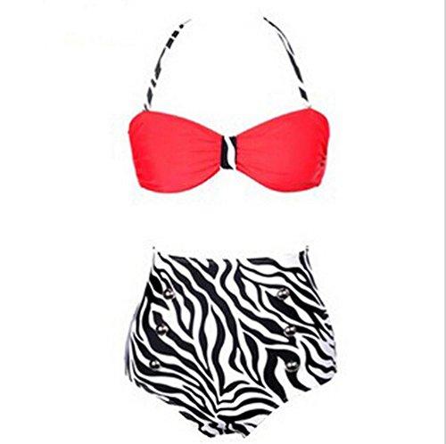 BUSL Sra. De la cintura del bikini retro c
