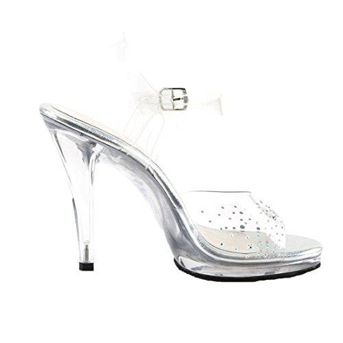 Fabulicious - Sandalias de vestir de Material Sintético para mujer transparente