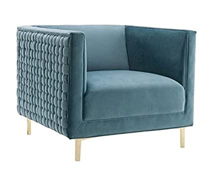 Amozon Accent Chairs.Tov Furniture The Sal Collection Modern Style Woven Velvet Upholstered Living Room Accent Chair Sea Blue