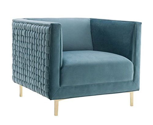 Tov furniture the sal collection modern style woven velvet - Modern upholstered living room chairs ...