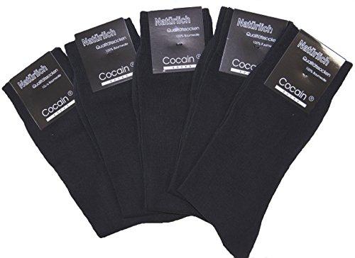 10 Paar Herren Socken, schwarze Anzugssocke, 100% Baumwolle, Marke Cocain, Markenware Gr. 43/46