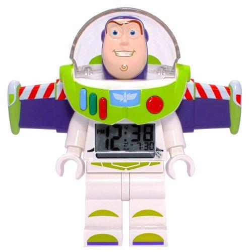 Disney Buzz Lightyear Lego Figure Alarm Clock (Buzz Lightyear Alarm Clock)