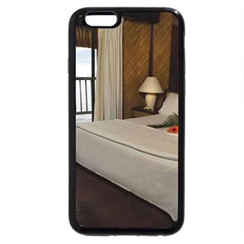 iPhone 6S Case, iPhone 6 Case (Black & White) - Le Maitai room suite Bora Bora